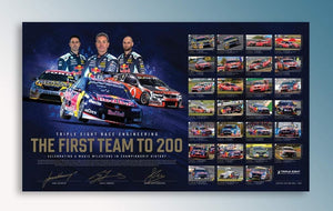 Triple Eight Race Engineering 'The First Team To 200' Signed Limited Edition Print
