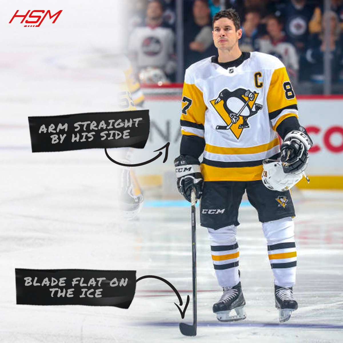 how long should my hockey stick be crosby