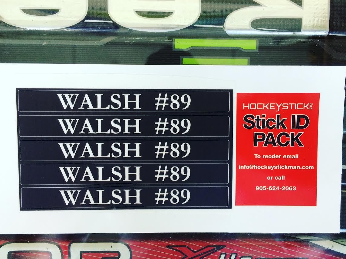 Custom Stick Pro Stock Decal Just Like the Pros Hockey Stick Name Labelling Kit