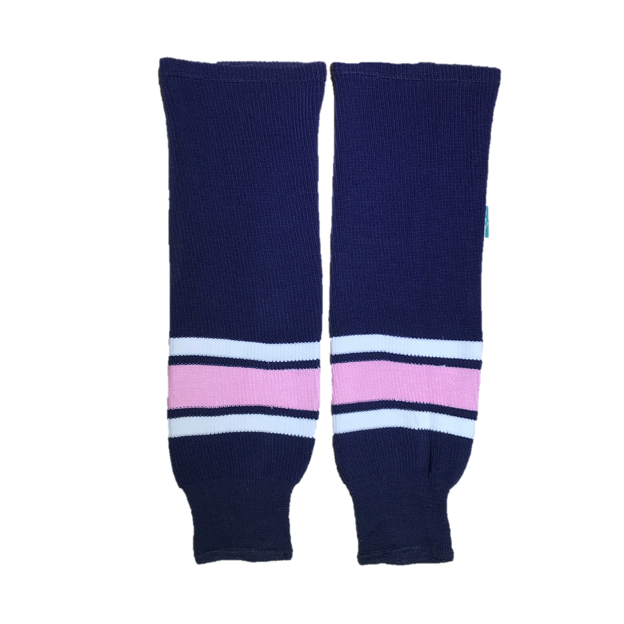 TEAM SET - Knit Socks - Navy/Pink