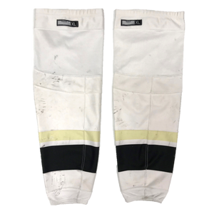 TEAM SET - Used CCM Pro Game Sock (Penguins) - White