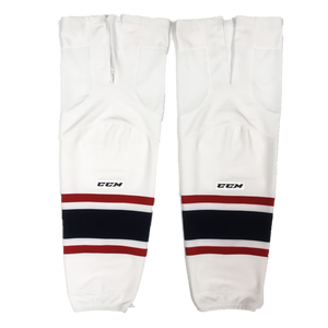TEAM SET - Used CCM Pro Game Sock (South Carolina Stingrays) - White