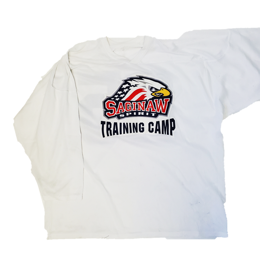 Saginaw Spirit (OHL) - Used CCM Training Camp Practice Jersey (White)