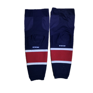 TEAM SET - Used CCM Pro Game Sock (Saginaw Spirit) - Navy Blue