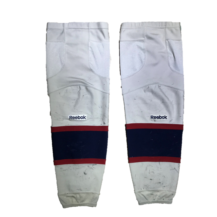 TEAM SET - Used CCM Pro Game Sock (Saginaw Spirit) - White