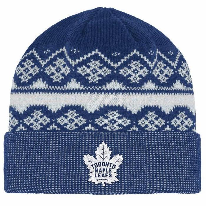 494299f0473 NHL Licence Hat - Toronto Maple Leafs Cuffed Beanie