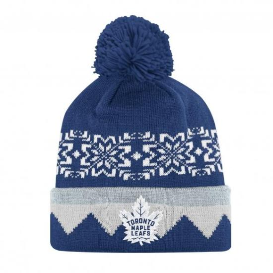 NHL Licence Hat - Toronto Maple Leafs Adidas Cuffed Pom Knit