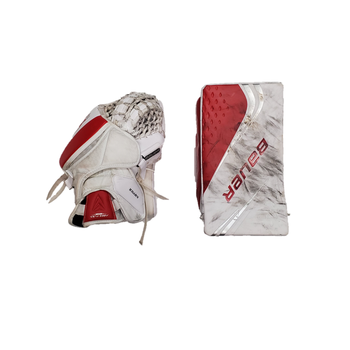 Bauer 2X Pro - Used Pro Stock Senior Goalie Glove Set - Ohio State