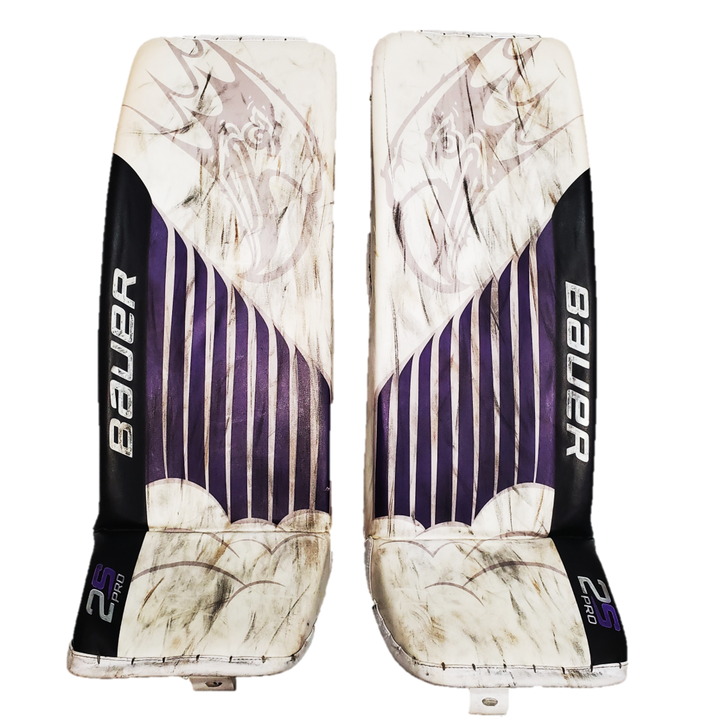 "Bauer Supreme 2S Pro (NCAA) - L/35.5"" Used Pro Stock Senior Goalie Pads"