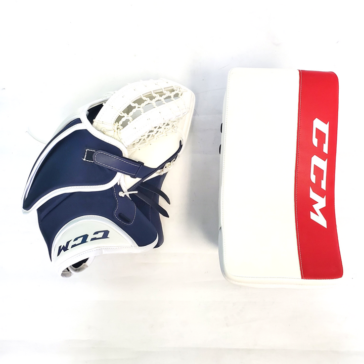 CCM Retro Flex Pro - New Pro Stock Senior Goalie Glove Set - Washington Capitals