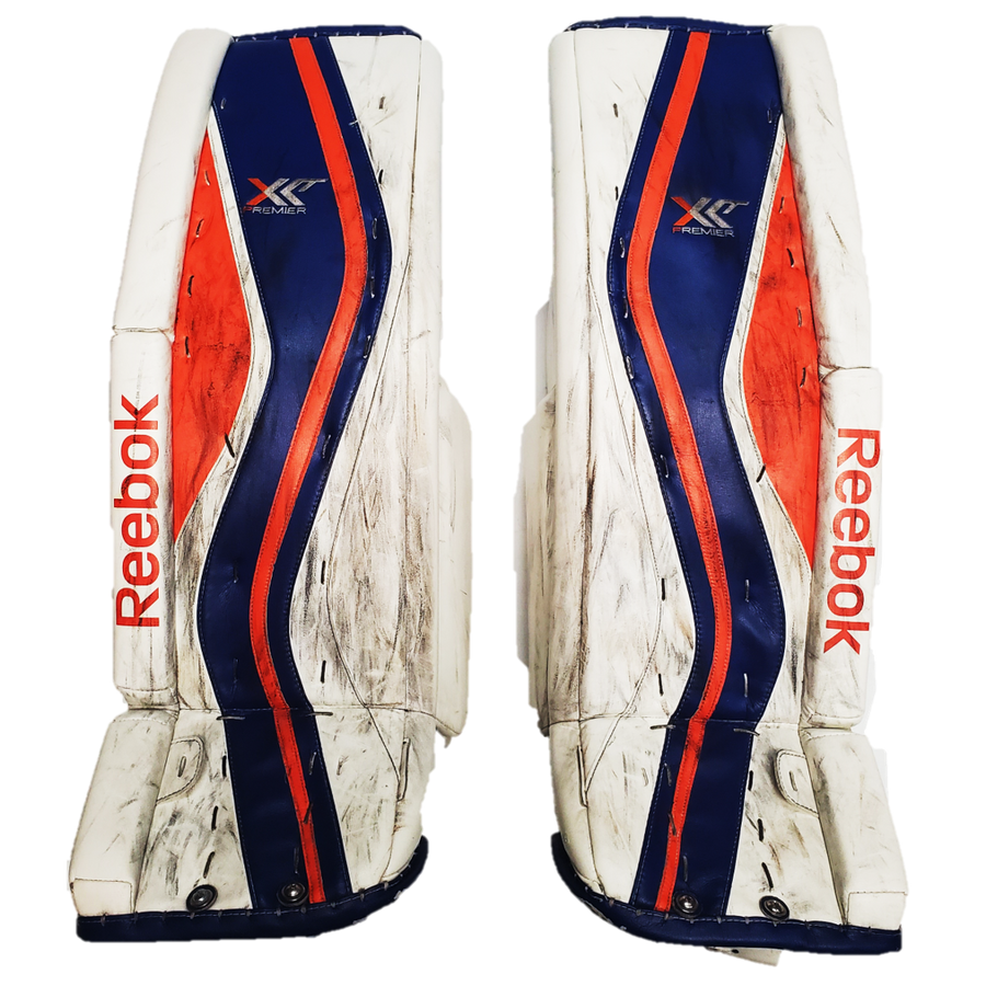 "Reebok XLT Premier (NCAA) - 37"" Used Pro Stock Senior Goalie Pads"