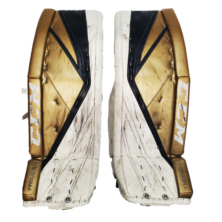 "CCM Premier II (NCAA) - 36.5"" Used Pro Stock Senior Goalie Pads"