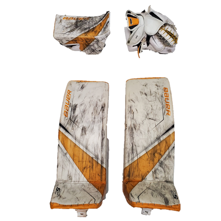 "Bauer Supreme 2S Pro (OHL) - M/34"" Used Pro Stock Senior Goalie Pads (Full Set)"