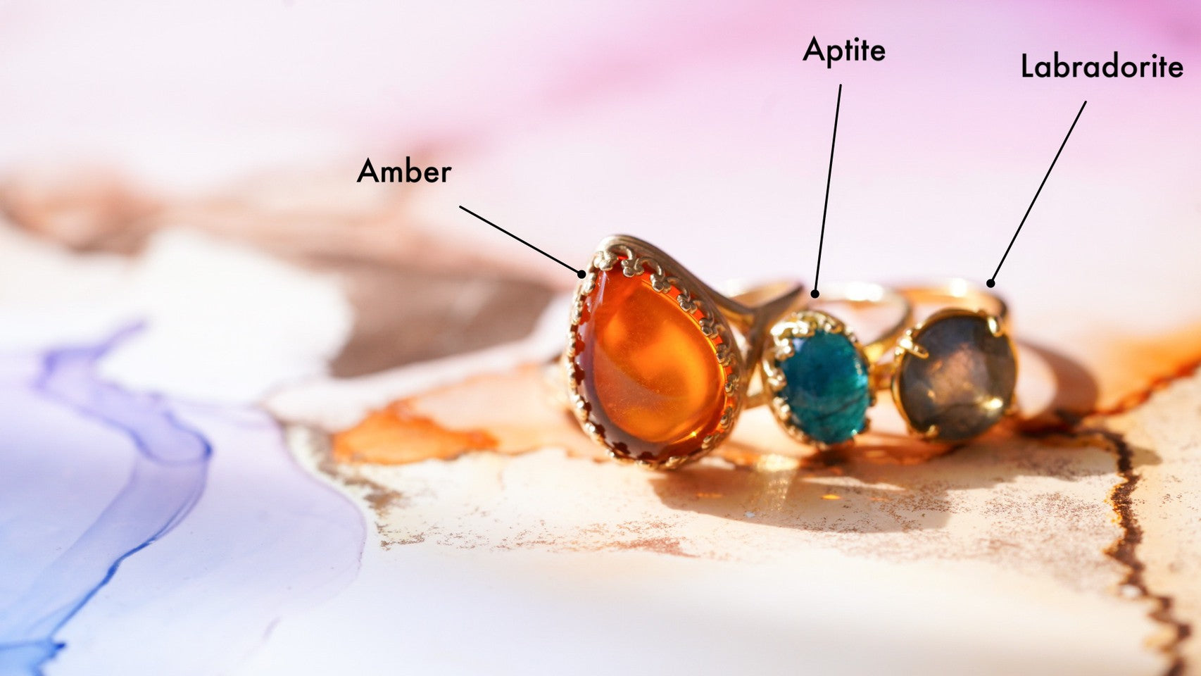 アンバー ペアシェイプLL【Amber/Pear shape largest ring】