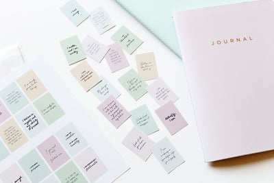 How to DIY Mini Affirmation Stickers for Journaling