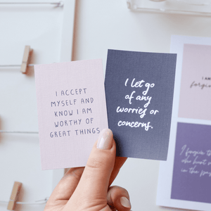 Evening Affirmations: 30 Printable Vision Board Cards