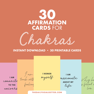 Sacral/Root Chakra Affirmations: 30 Printable Vision Board Cards