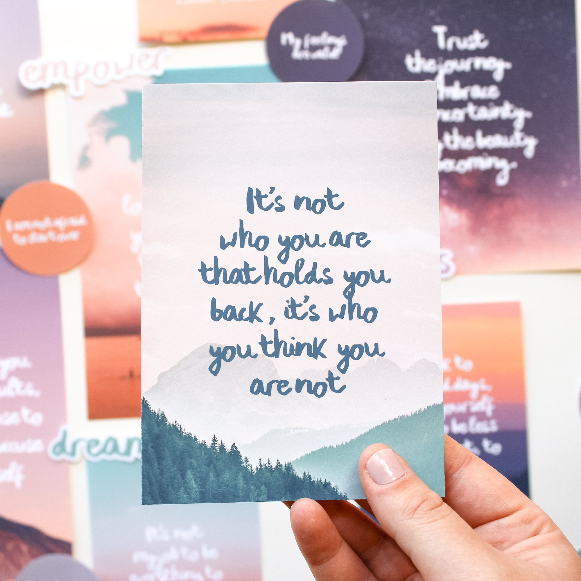 Self Love Vision Board Kit: Quotes, Words & Affirmation Cards | 21pcs