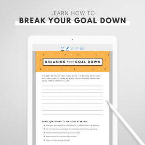90 Day Goal Planner (Digital/Printable Version)