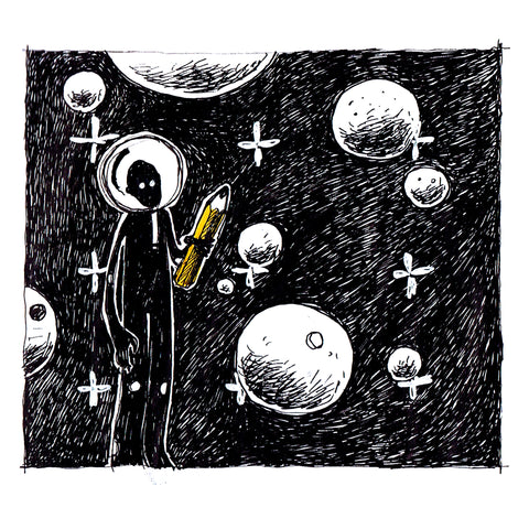 space illustration collection original artwork art print by artist joanna bucur