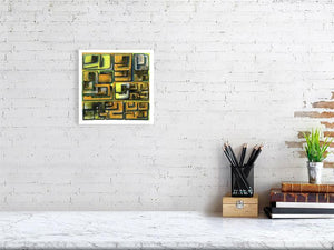 Representation of size of art print of illustration called Configurations 1 by artist Joanna Bucur
