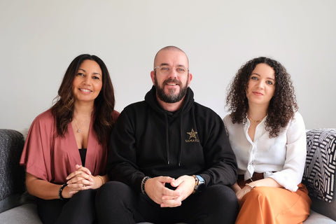 An image of the Samayla Jewellery team including Leanne (left), Dean (middle), Taylor (right).