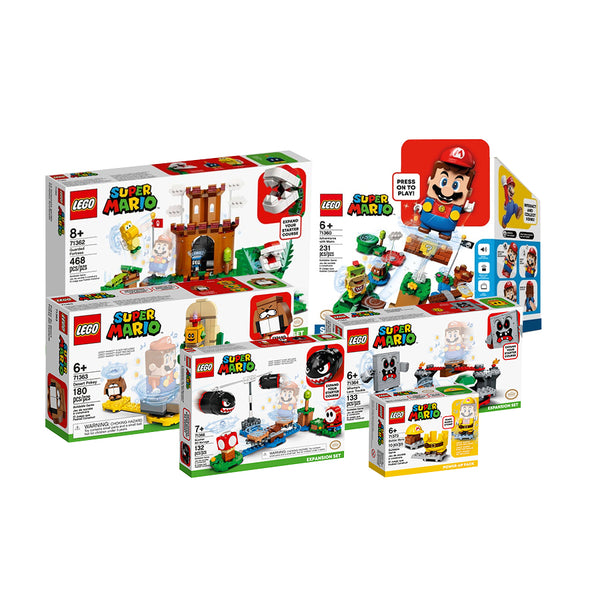 SUPER PACK DE 6 SETS DE LEGO SUPER MARIO