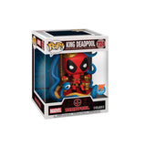 FUNKO POP MARVEL:KING DEADPOOL EN TRONO DELUXE EXCLUSIVO