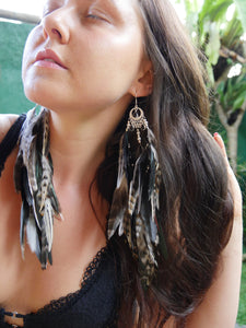 Bohemian Goddess I Embrace the Light and Dark within Me - Onyx Ear Pieces