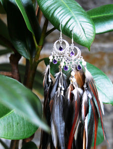 Bohemian Goddess Connected To My Highest Self - Amethyst Ear Piece Short