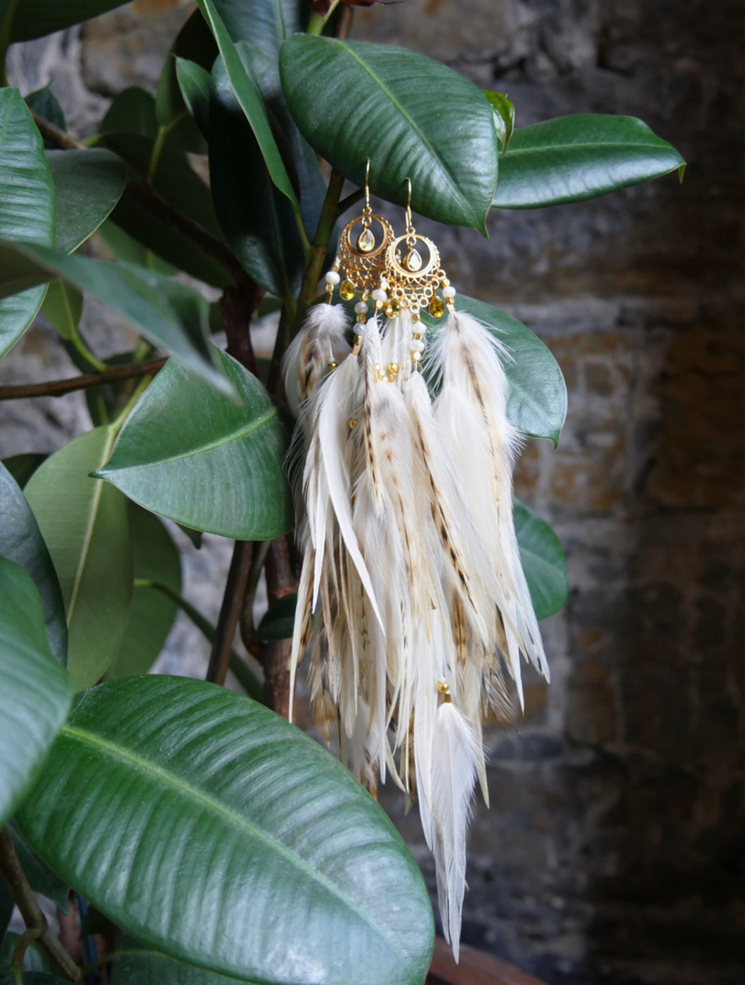 Bohemian Goddess - My Inner Burning Fire - Citrine Ear Pieces
