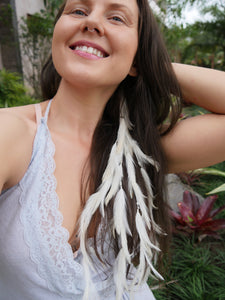 Bohemian Goddess - Divine Light - White hair jewelry