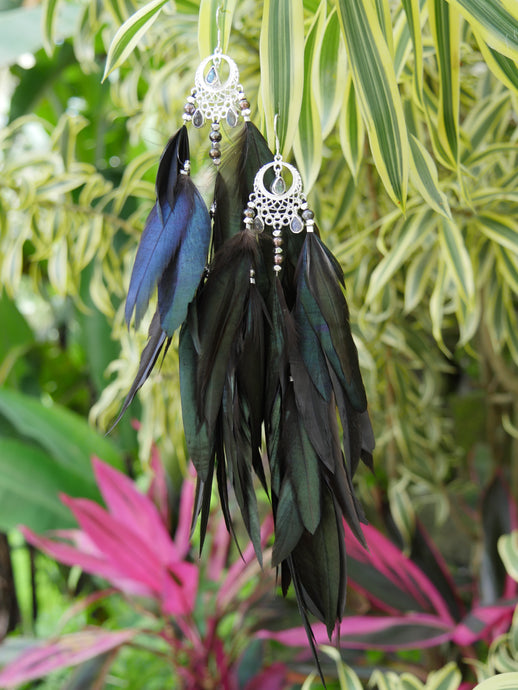 Bohemian Goddess - My intuition is my superpower - Labradorite ear pieces