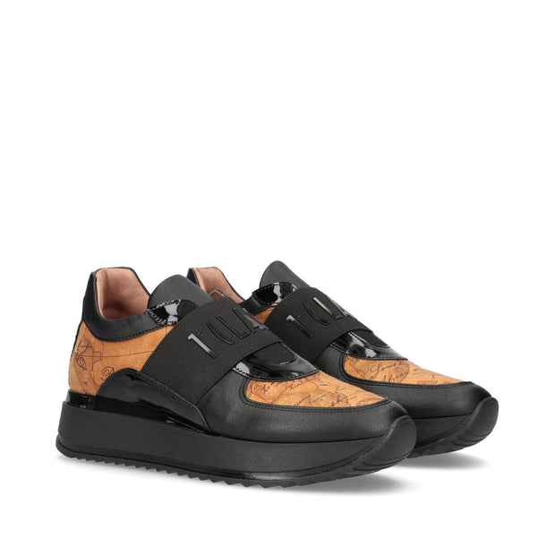 Sneakers 1ª Classe Junior in pelle era con maxifascia elasitica e logo in rilievo P4A4-10741-0030X550