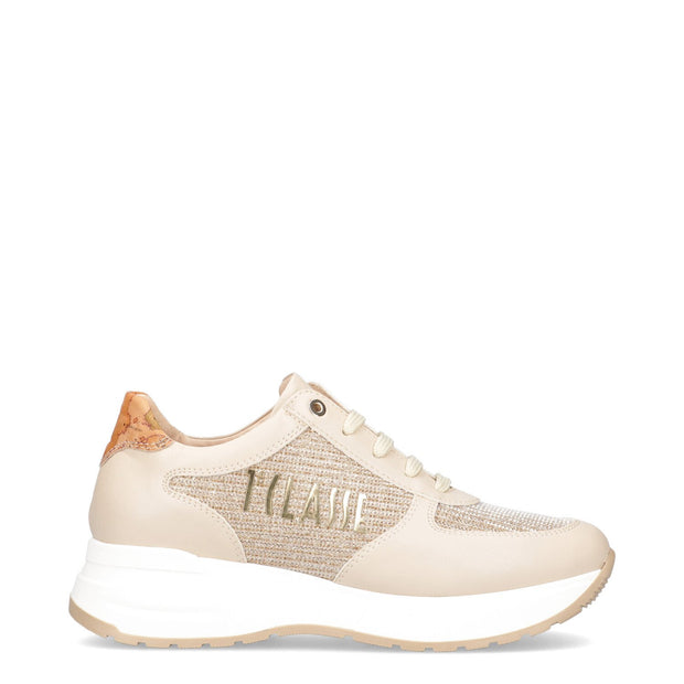 SNEAKERS ALVIERO MARTINI 1ª CLASSE JUNIOR COLOR BEIGE CON LOGO P4A4-10939-1196A029