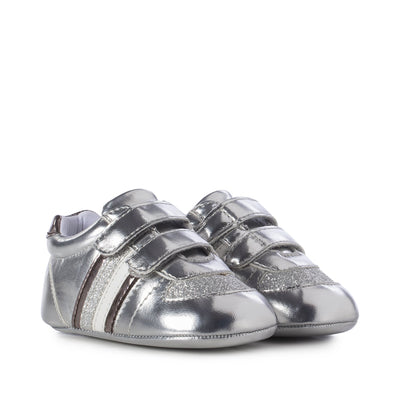 Sneaker Tommy Hilfiger in ecopelle argento  T0A4-30400-0695904-