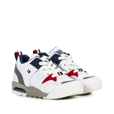 Sneakers Tommy Hilfiger in ecopelle bianca con flag laterale T1B4-30910-0208X008