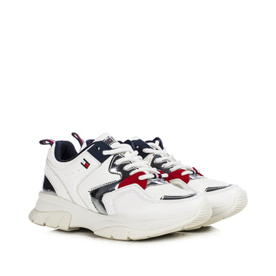 Sneakers Tommy Hilfiger bianche fondo chunky T3A4-30821-0193X025