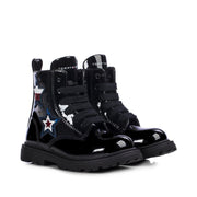 Anfibi Tommy Hilfiger in ecopelle color nero con stelle decorative T3A5-30836-1026999-