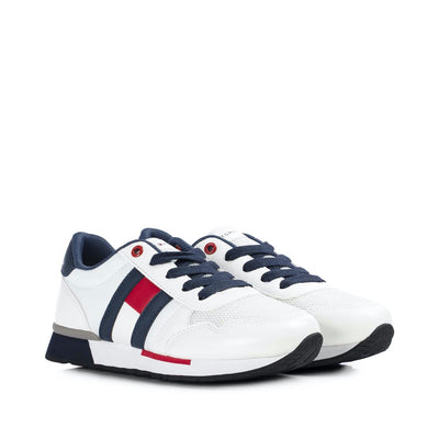 Sneakers Tommy Hilfiger in ecopelle bianca con flag laterale