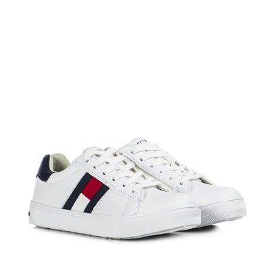 Sneakers Tommy Hilfiger bianca con flag laterale T3B4-30921-0900X336