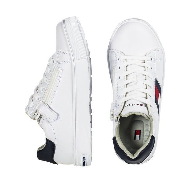 Sneakers Tommy Hilfiger bianca con flag laterale