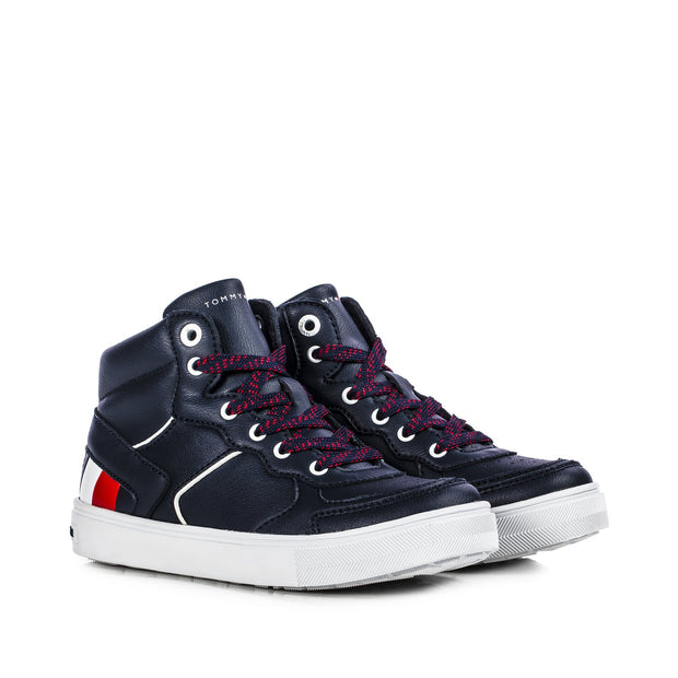 Sneakers Tommy Hifiger blu con stripes laterali T3B4-30926-1030800-
