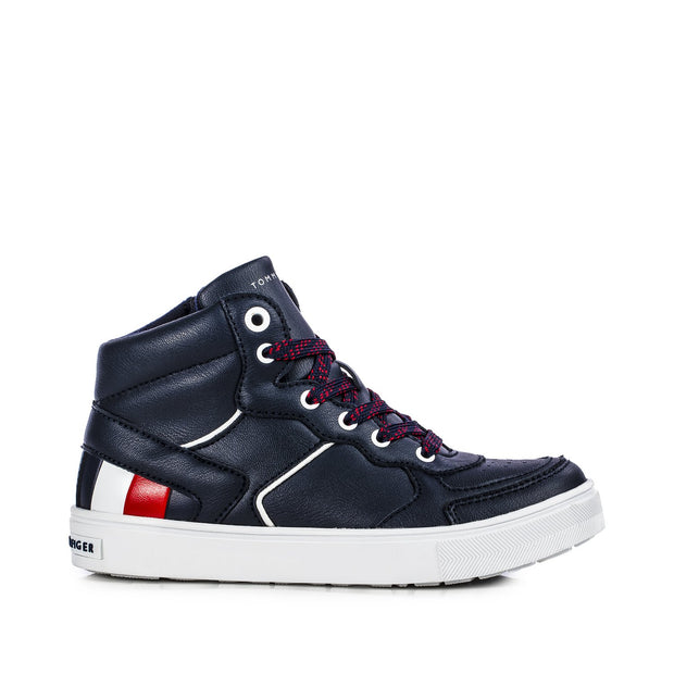 Sneakers Tommy Hifiger blu con stripes laterali