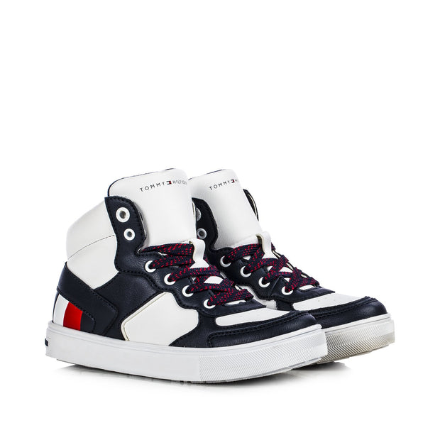 Sneakers Tommy Hiliger bianche color block con stripes laterali T3B4-30928-0621X007