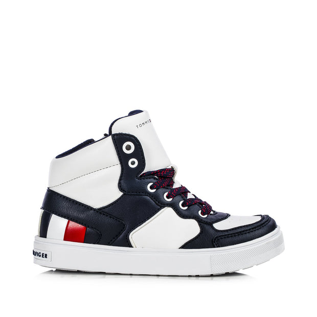 Sneakers Tommy Hiliger bianche color block con stripes laterali