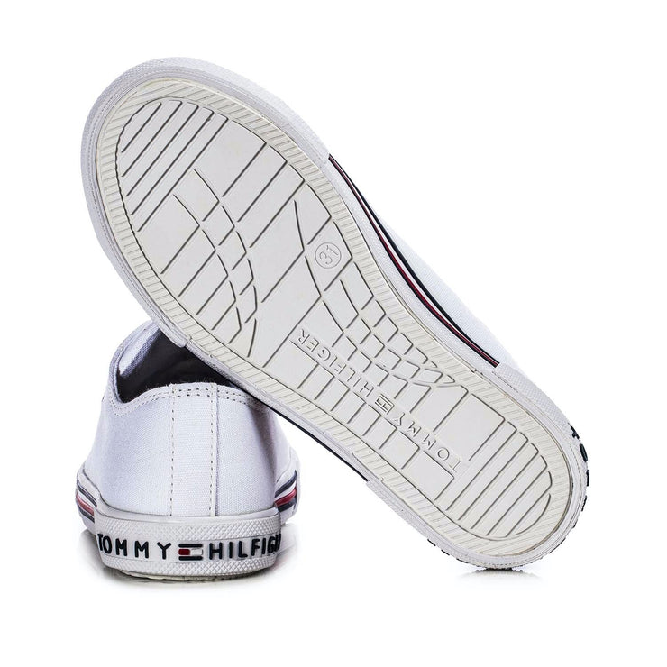 Sneakers Tommy Hilfiger in canvas riciclato bianco