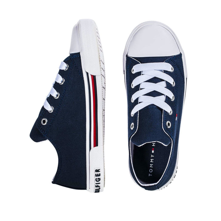 Sneakers Tommy Hilfiger in canvas riciclato blu