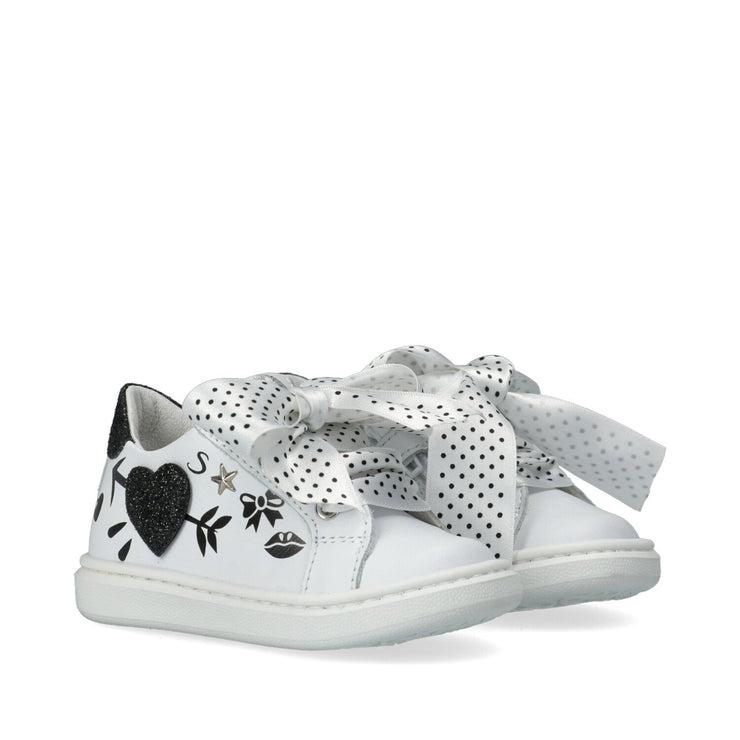Sneakers in pelle con disegni Y1A4-41149-0062X002