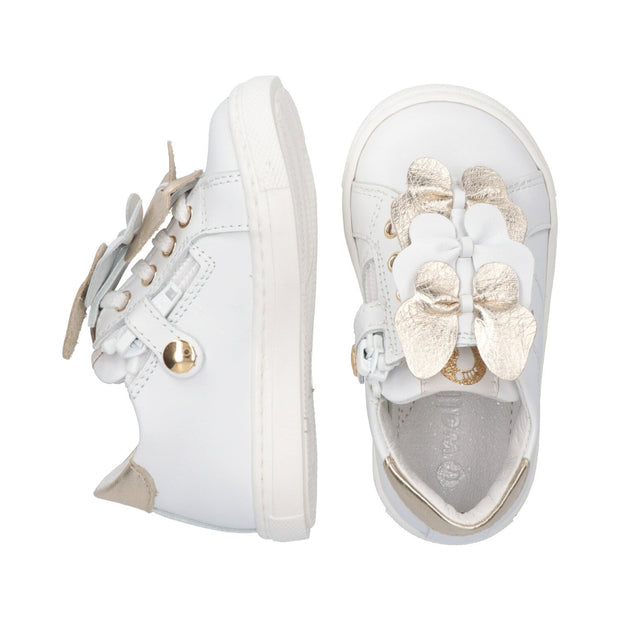 Sneakers in pelle con farfalle